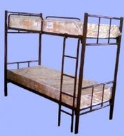 Кровать двухъярусная на металлокаркасе