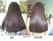 Кератиновое восстановление и выпрямление волос.