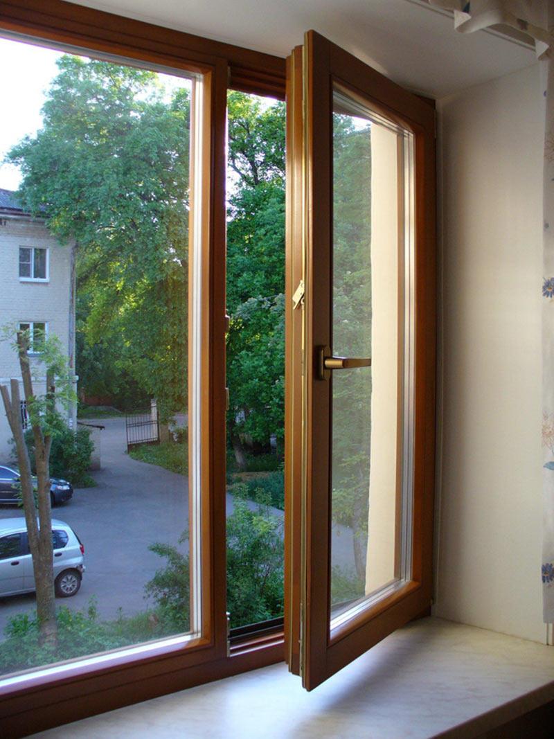 Деревянные евроокна фото