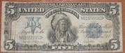 банкнота 5 долларов США 1899 года