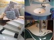 Искусственный камень: мойки столешницы,  подоконники,  барные стойки